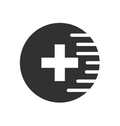 Black icon on white background medical cross vector