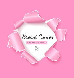 Breast cancer awareness social media post vector