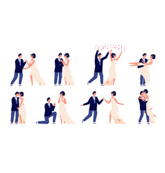 bride and groom wedding couple engagement or vector image