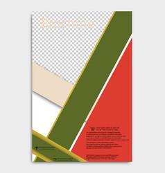 brochure design corporate business template vector image