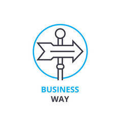 business way concept outline icon linear sign vector image