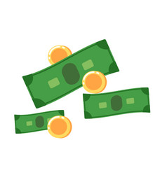 Cash icon in flat design vector
