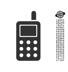 Cell phone icon with work bonus vector