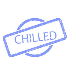 chilled stamp vector image