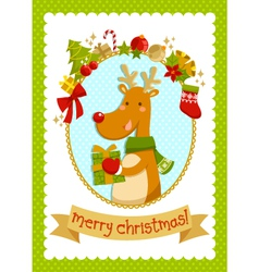 christmas deer stock small vector image