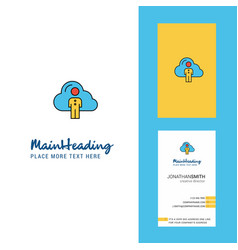 cloud network creative logo and business card vector image