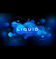 colorful futuristic background design fluid vector image