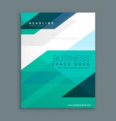 Company magazine cover page brochure design vector