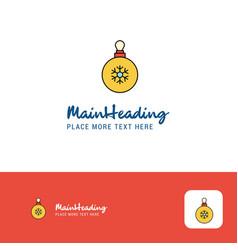 creative christmas balls logo design flat color vector image