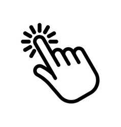 cursor pointer hand clicking icon vector image