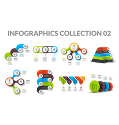 cycle business graphic elements business process vector image