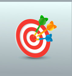 darts with target vector image