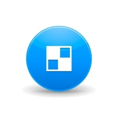 Del icio us icon simple style vector image