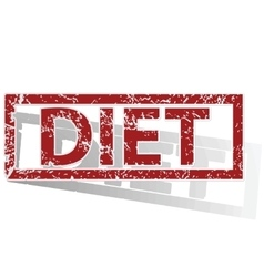 DIET outlined stamp vector