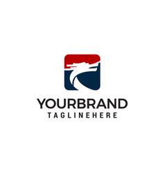 dragon logo design concept template vector image