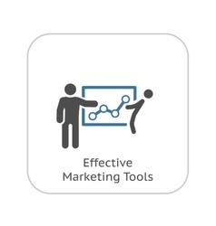 Effective Marketing Tools Icon Flat Design vector image