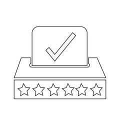 election icon design vector image