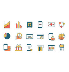 finance online services icon e-banking with vector image