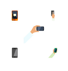 Flat icon smartphone set of smartphone chatting vector