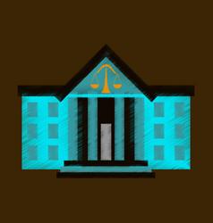 flat shading style icon courthouse vector image
