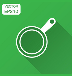 Frying pan icon in flat style cooking pan with vector