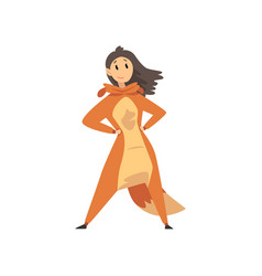 girl wearing squirrel animal costume person in vector image