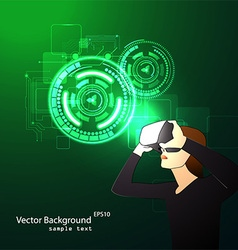 glasses with the virtual reality vector image