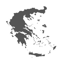 greece map black icon on white background vector image