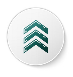 Green military rank icon isolated on white vector