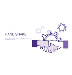 Hand shake icon business handshake partnership and vector
