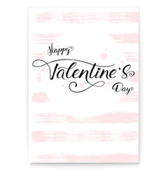 happy valentines day cover greetings poster in vector image