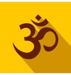 Hindu om symbol icon flat style vector
