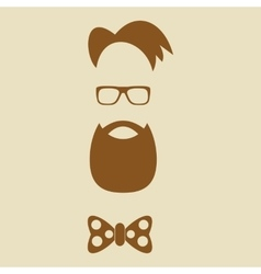 hipster elements silhouette vector image