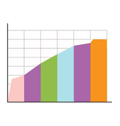 info chart layers vector image