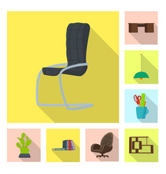 isolated object of furniture and work logo vector image