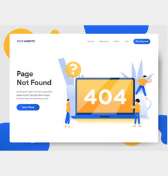 landing page template 404 page not found vector image