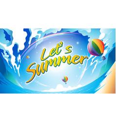 lets summer vector image