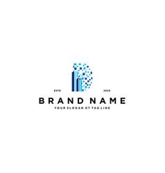 Letter d build tech logo design vector