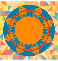 Mandala like round frame for text vector image