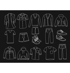 MInimalistic Men clothes and shoes vector