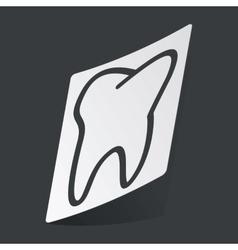 Monochrome tooth sticker vector