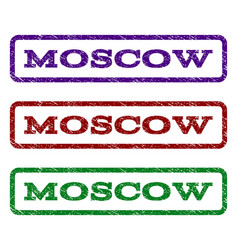 Moscow watermark stamp vector