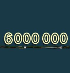 neon garland number vector image