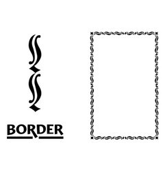 Old world borders - tiled frame in plant leaves vector