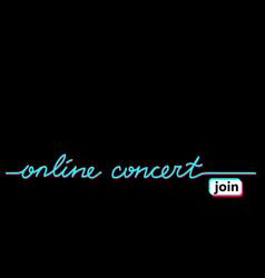 online concert black web banner background vector image