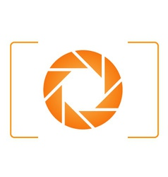 Orange photography logo vector image