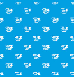 paper clip pattern seamless blue vector image