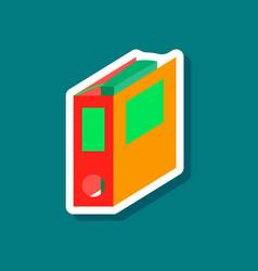 Paper sticker on stylish background folder vector