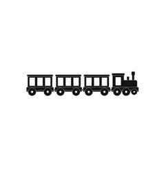 passenger train icon simple style vector image