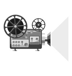 Retro movie projector icon gray monochrome style vector image